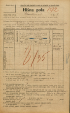 Popis prebivalstva 20. 12. 1921<br />Ljubljana<br />Krsnikova ulica 7<br />Population census 20 December 1921