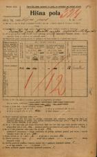 Popis prebivalstva 20. 12. 1921<br />Ljubljana<br />Lepi pot 1<br />Population census 20 December 1921