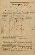 Popis prebivalstva 20. 12. 1921<br />Ljubljana<br />Lepi pot 6<br />Population census 20 December 1921
