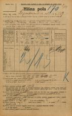 Popis prebivalstva 20. 12. 1921<br />Ljubljana<br />Lepodvorska ulica 157<br />Population census 20 December 1921