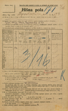 Popis prebivalstva 20. 12. 1921<br />Ljubljana<br />Lepodvorska ulica 174<br />Population census 20 December 1921