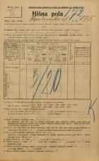 Popis prebivalstva 20. 12. 1921<br />Ljubljana<br />Lepodvorska ulica 175<br />Population census 20 December 1921