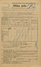 Popis prebivalstva 20. 12. 1921<br />Ljubljana<br />Lepodvorska ulica 182<br />Population census 20 December 1921