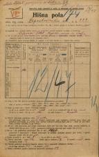 Popis prebivalstva 20. 12. 1921<br />Ljubljana<br />Lepodvorska ulica 222<br />Population census 20 December 1921