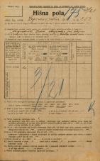 Popis prebivalstva 20. 12. 1921<br />Ljubljana<br />Lepodvorska ulica 253<br />Population census 20 December 1921