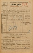 Popis prebivalstva 20. 12. 1921<br />Ljubljana<br />Levstikova ulica 19<br />Population census 20 December 1921
