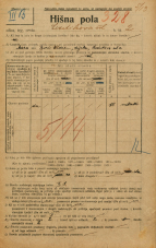 Popis prebivalstva 20. 12. 1921<br />Ljubljana<br />Levstikova ulica 2<br />Population census 20 December 1921