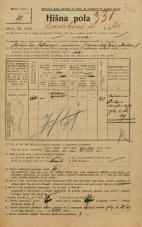 Popis prebivalstva 20. 12. 1921<br />Ljubljana<br />Levstikova ulica 21<br />Population census 20 December 1921