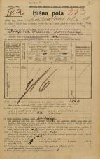 Popis prebivalstva 20. 12. 1921<br />Ljubljana<br />Linhartova ulica 16<br />Population census 20 December 1921