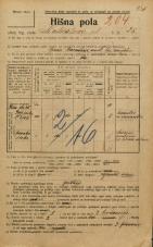 Popis prebivalstva 20. 12. 1921<br />Ljubljana<br />Linhartova ulica 25<br />Population census 20 December 1921