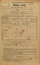 Popis prebivalstva 20. 12. 1921<br />Ljubljana<br />Linhartova ulica 3<br />Population census 20 December 1921