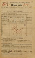 Popis prebivalstva 20. 12. 1921<br />Ljubljana<br />Linhartova ulica 30<br />Population census 20 December 1921