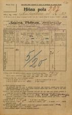 Popis prebivalstva 20. 12. 1921<br />Ljubljana<br />Linhartova ulica 32<br />Population census 20 December 1921