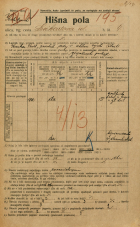 Popis prebivalstva 20. 12. 1921<br />Ljubljana<br />Linhartova ulica 4<br />Population census 20 December 1921