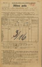 Popis prebivalstva 20. 12. 1921<br />Ljubljana<br />Linhartova ulica 5<br />Population census 20 December 1921