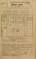 Popis prebivalstva 20. 12. 1921<br />Ljubljana<br />Linhartova ulica 6<br />Population census 20 December 1921