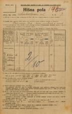 Popis prebivalstva 20. 12. 1921<br />Ljubljana<br />Linhartova ulica 7<br />Population census 20 December 1921