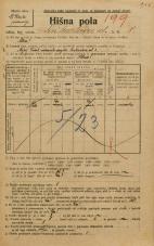 Popis prebivalstva 20. 12. 1921<br />Ljubljana<br />Linhartova ulica 8<br />Population census 20 December 1921