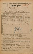 Popis prebivalstva 20. 12. 1921<br />Ljubljana<br />Marijin trg 1<br />Population census 20 December 1921