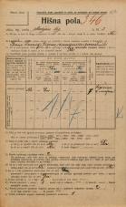 Popis prebivalstva 20. 12. 1921<br />Ljubljana<br />Marijin trg 2<br />Population census 20 December 1921
