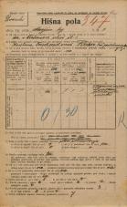 Popis prebivalstva 20. 12. 1921<br />Ljubljana<br />Marijin trg 3<br />Population census 20 December 1921