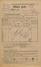 Popis prebivalstva 20. 12. 1921<br />Ljubljana<br />Marijin trg 4<br />Population census 20 December 1921