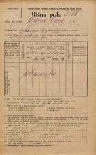 Popis prebivalstva 20. 12. 1921<br />Ljubljana<br />Marijin trg NN1<br />Population census 20 December 1921
