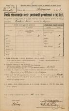 Popis prebivalstva 20. 12. 1921<br />Ljubljana<br />Prešernova 1<br />Population census 20 December 1921