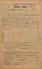 Popis prebivalstva 20. 12. 1921<br />Ljubljana<br />Marmontova ulica 1<br />Population census 20 December 1921
