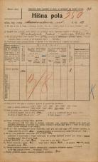 Popis prebivalstva 20. 12. 1921<br />Ljubljana<br />Marmontova ulica 12<br />Population census 20 December 1921