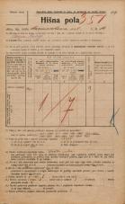 Popis prebivalstva 20. 12. 1921<br />Ljubljana<br />Marmontova ulica 14<br />Population census 20 December 1921