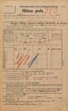 Popis prebivalstva 20. 12. 1921<br />Ljubljana<br />Marmontova ulica 16<br />Population census 20 December 1921