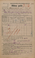 Popis prebivalstva 20. 12. 1921<br />Ljubljana<br />Marmontova ulica 17<br />Population census 20 December 1921