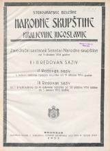 Stenografske beleške Narodne skupštine Kraljevine Jugoslavije<br />Zajednički sestanak Senata i Narodne skupštine od 11. oktobra 1934. godine<br />II. redovan saziv - L. redovni sastanak Narodne skupštine od 19. oktobra 1934. godine<br />III. redovan saziv - od I. prethodnog do IV. redovnog sastanka od 20. oktobra 1934. godine do 3. januara 1935. godine