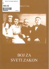Boj za sveti zakon: prizadevanja za reformo poročnega prava od 18. stoletja do druge svetovne vojne