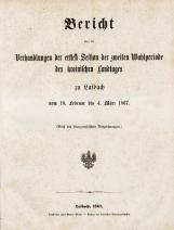 1. sesija (18. 2. 1867 –  4. 3. 1867)<br />4. knjiga (19. 11. 1866 – 6. 4. 1867)<br />1. Session (18. 2. 1867 –  4. 3. 1867)<br />Book 4 (19. 11. 1866 – 6. 4. 1867)
