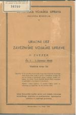 Uradni list Zavezniške vojaške uprave, II. zvezek (oktober-december 1946)