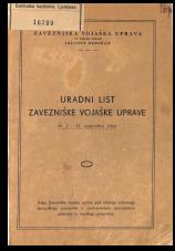 Uradni list Zavezniške vojaške uprave (september-december 1945)