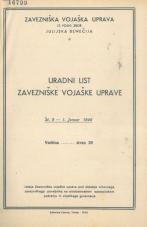 Uradni list Zavezniške vojaške uprave (januar-oktober 1946)