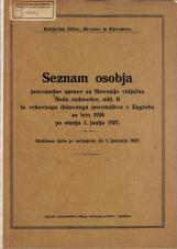 Seznam osobja pravosodne uprave za Slovenijo vključno Stola sedmorice, odd. B in vrhovnega državnega pravdništva v Zagrebu za leto 1926 po stanju 1. junija 1927.