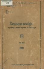 Seznam osobja v področju sodne uprave za Slovenijo za leto 1919