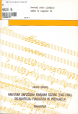 Arhivska zapuščina Marjana Kozine (1907-1966), skladatelja, publicista in prevajalca<br />Inventar