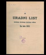Uradni list Istrskega okrožnega ljudskega odbora za leto 1951