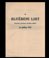 Službeni list Istarskog okružnog narodnog odbora za godinu 1951