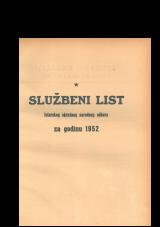 Službeni list Istarskog okružnog narodnog odbora za godinu 1952