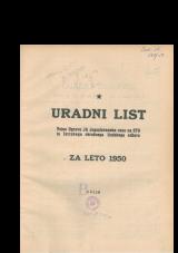 Uradni list Vojne Uprave JA Jugoslovanske cone na STO in Istrskega okrožnega ljudskega odbora za leto 1950