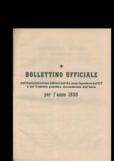 Bollettino ufficiale dell'Amministrazione militare dell' AJ, zona Jugoslava del TLT e del Comitato popolare circondariale dell'Istria per l'anno 1950