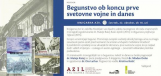Begunstvo ob koncu prve svetovne vojne in danes<br />Ljubljana, 22.10.2015