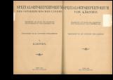 Spezialortsrepertorium von Kärnten<br />Bearbeitet auf Grund der Ergebnisse der Volkszählung vom 31. dezember 1910<br />Herausgegeben von der Statistischen Zentralkommission