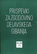 Prispevki za zgodovino delavskega gibanja, 1975, št. 1-2